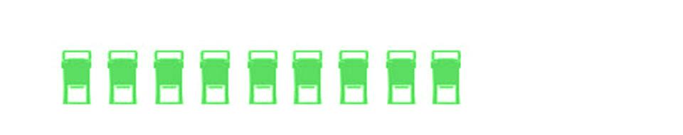 Mustesuihkutulostin jäte - 9 mustepakkausta
